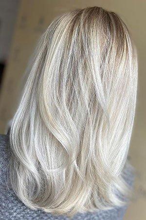 platinum-blonde-highlights at Natural Hair Company Lisburn
