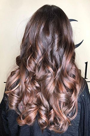 Red balayage at best hairdressers in Lisburn, County Antrim